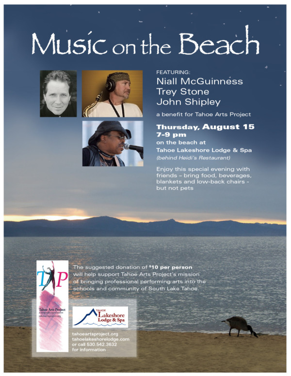 music on beach flyer 8.15.2013