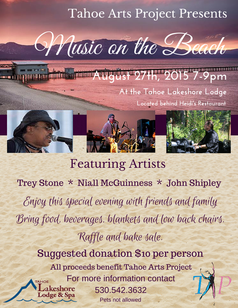 Music on the Beach August 27th, 2015
