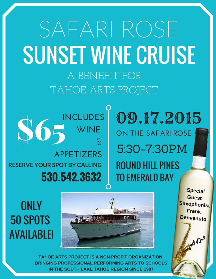 Safari Rose Sunset Wine Cruise