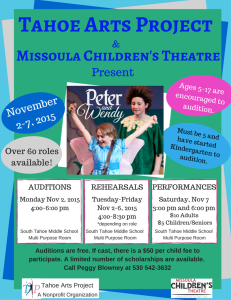 Peter and Wendy Flyer