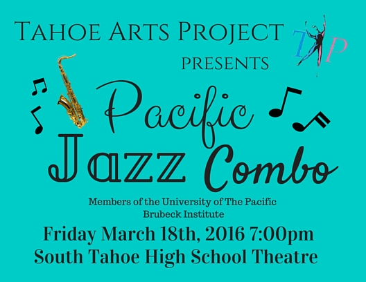 Tahoe Arts Project Presents Pacific Jazz Combo