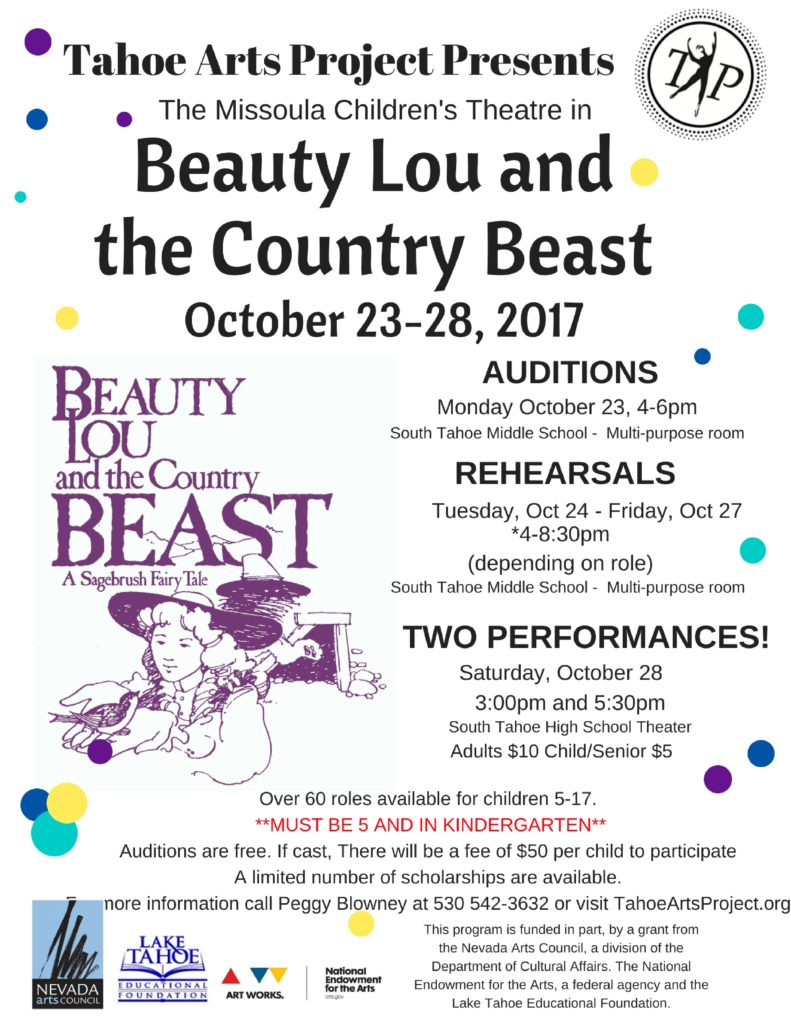 Tahoe Arts Project Presents - MCT - Beauty
